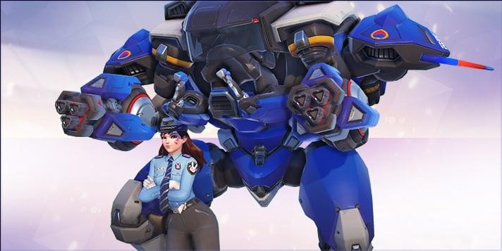 Overwatch: Holt Euch den neuen Officer D.Va Skin im Nexus von HotS 2.0