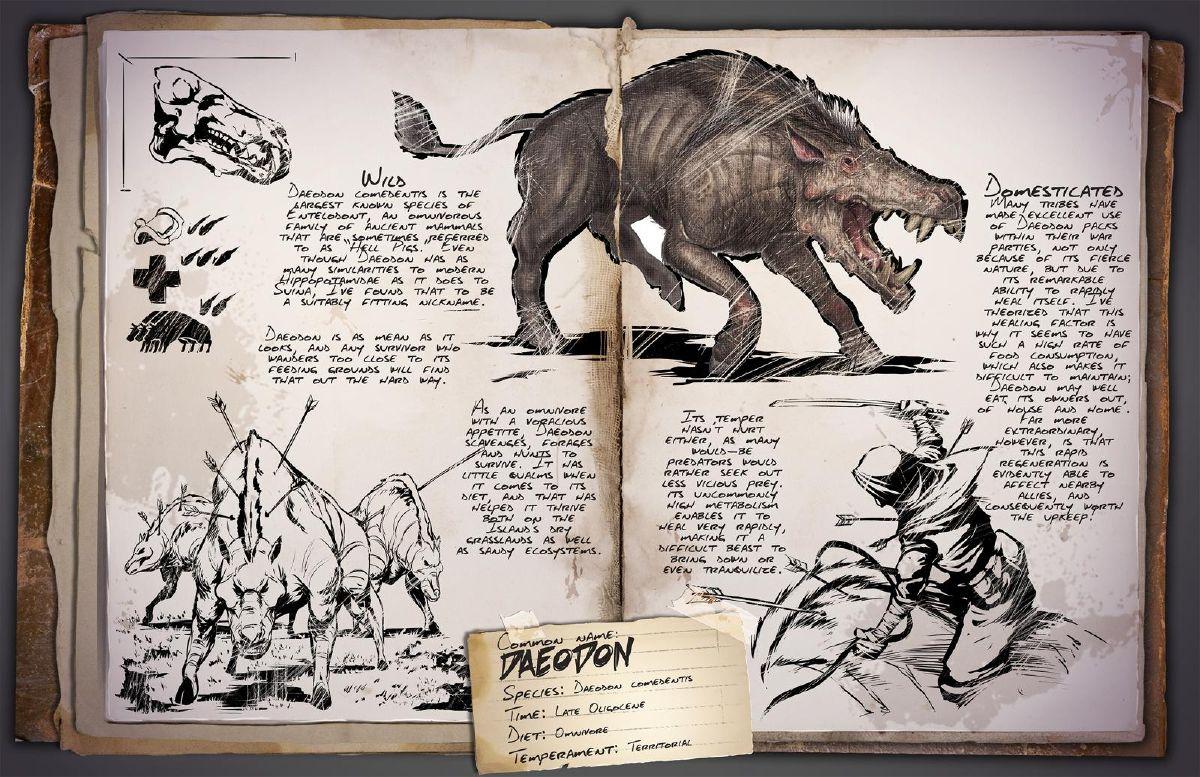 """Ark: Patch v257 kommt Ende April – mit dem Höllen-Schwein """"Daeodon"""""""