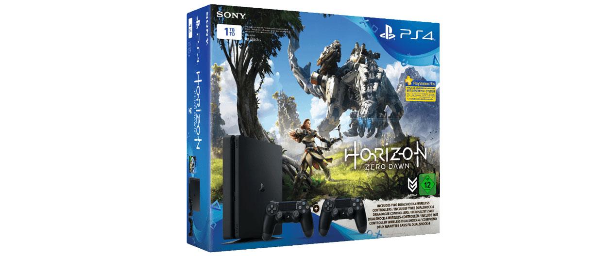 PS4 Slim 1 TB mit Horizon Zero Dawn + 2. Controller für 289 Euro