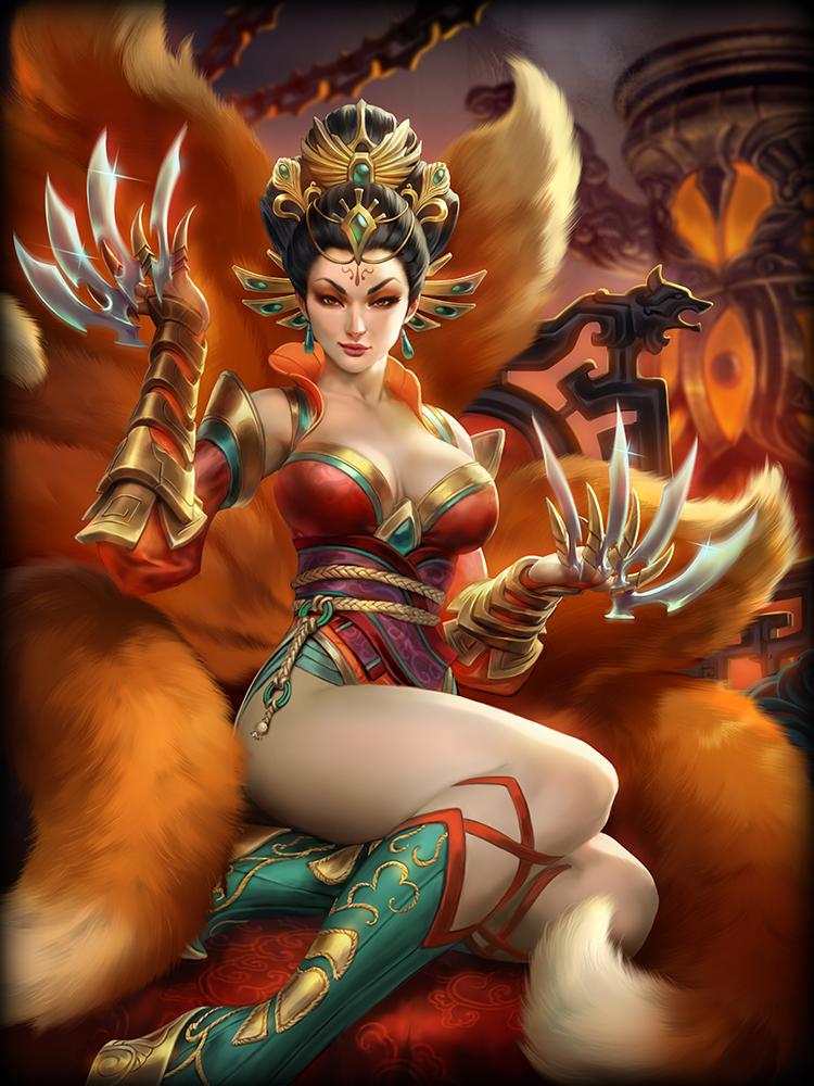 SMITE: Sexy Göttin mit 9 Schwänzen – Fuchsdame Da Ji spielt mit