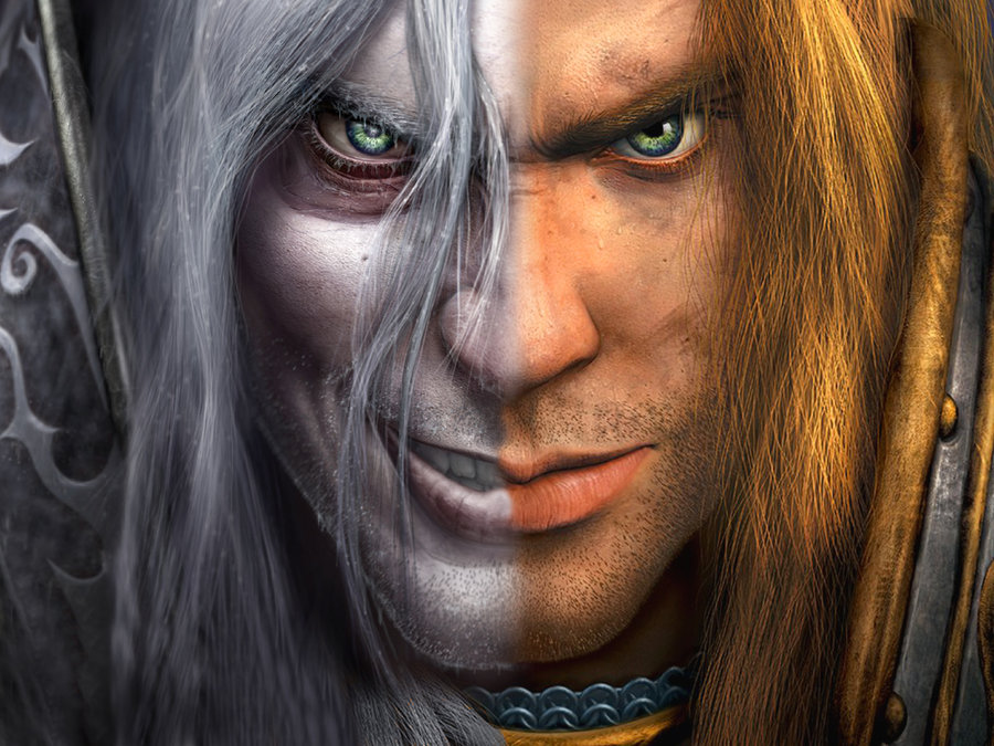 WoW Prinz Arthas Menethil Mixed Artwork Lich King Human