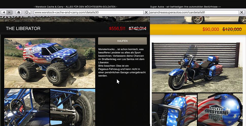 GTA 5 Online Amerika Fahrzeuge