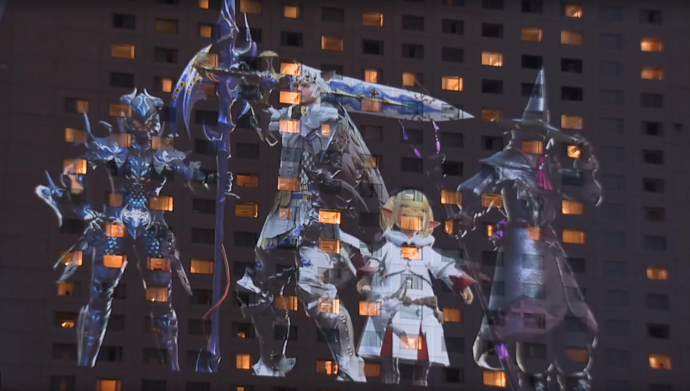 Final Fantasy XIV: In Japan läuft das MMORPG auf Hauswänden!