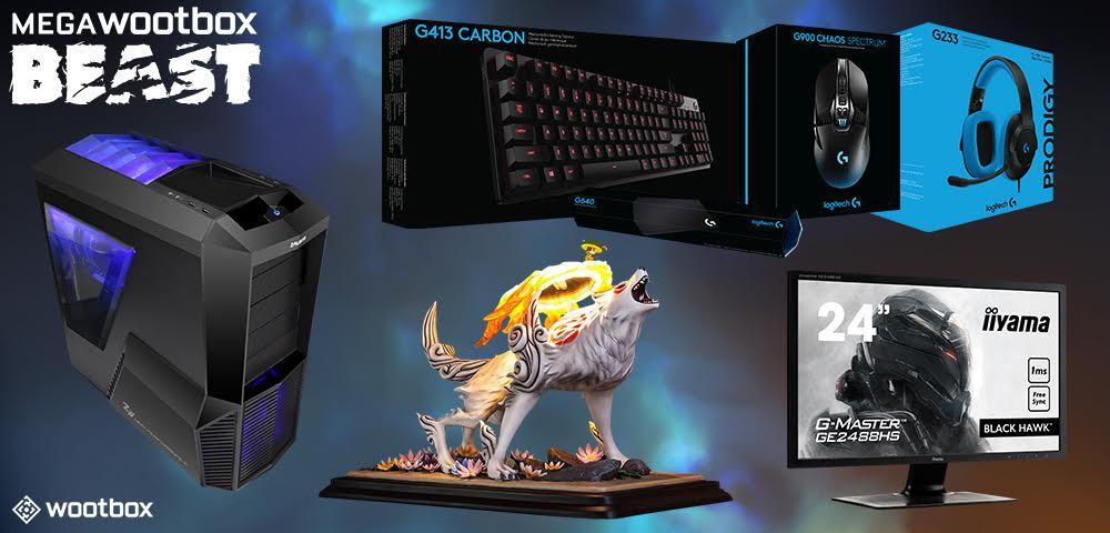 MegaWootbox Beast: Chance auf Gaming PC, Bildschirm, Logitech-Set