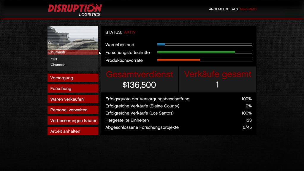 GTA 5 Online Gunrunning Verkäufe