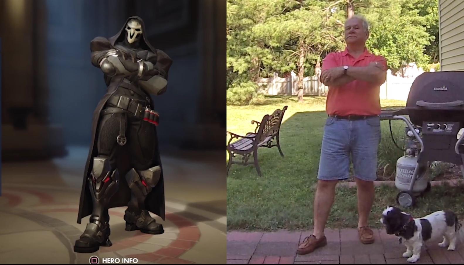 Cooler Vater tanzt die Overwatch-Emotes für seinen Sohn