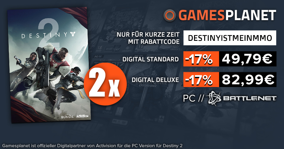 Destiny 2 – Gewinnspiel: Wir haben PC-Vollversionen und ein T-Shirt für Euch!