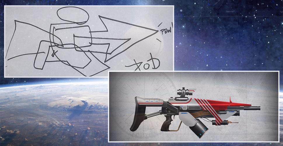 Aus Kritzeleien werden Waffen im Destiny-Stil – Bungie braucht den Kerl!