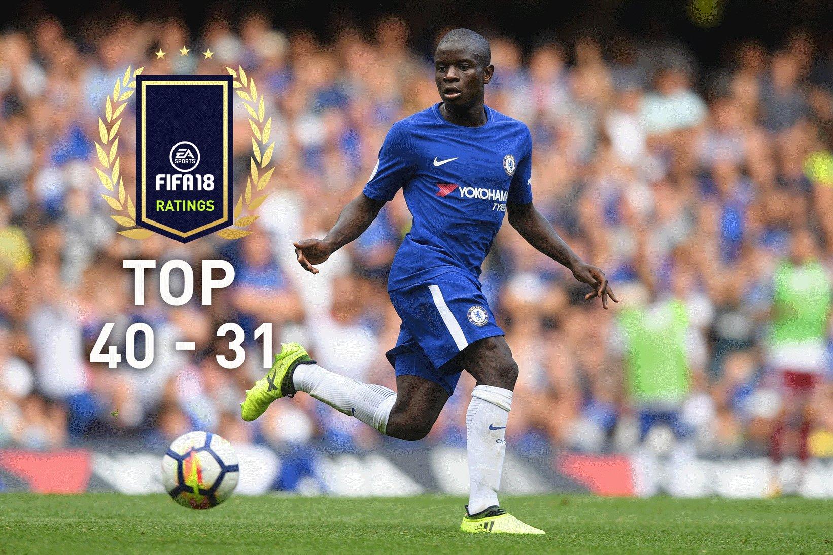 FIFA 18 Spielerwerte – Die Ratings Top 40-31