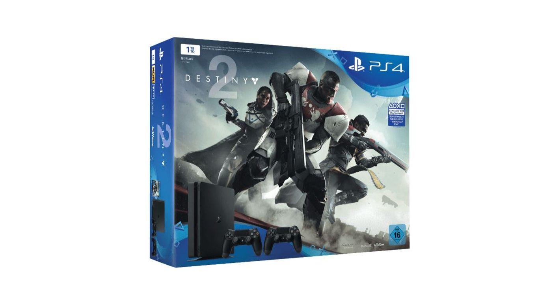 Playstation 4 Slim 1TB + Destiny 2 + 2. Controller im Angebot bei MediaMarkt
