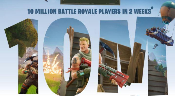Fortnite: Battle Royale – 10 Millionen Spieler innerhalb von 2 Wochen!