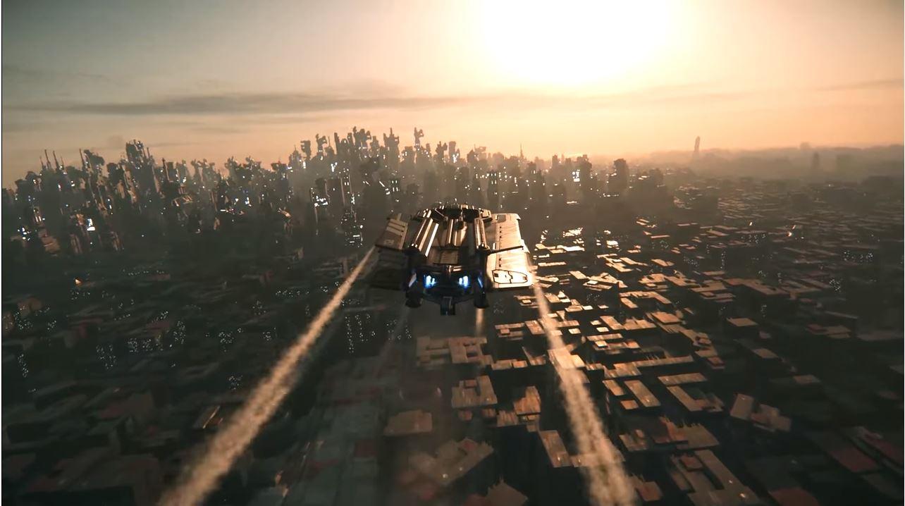 Star Citizen zeigt eine Stadt wie aus Blade Runner 2049