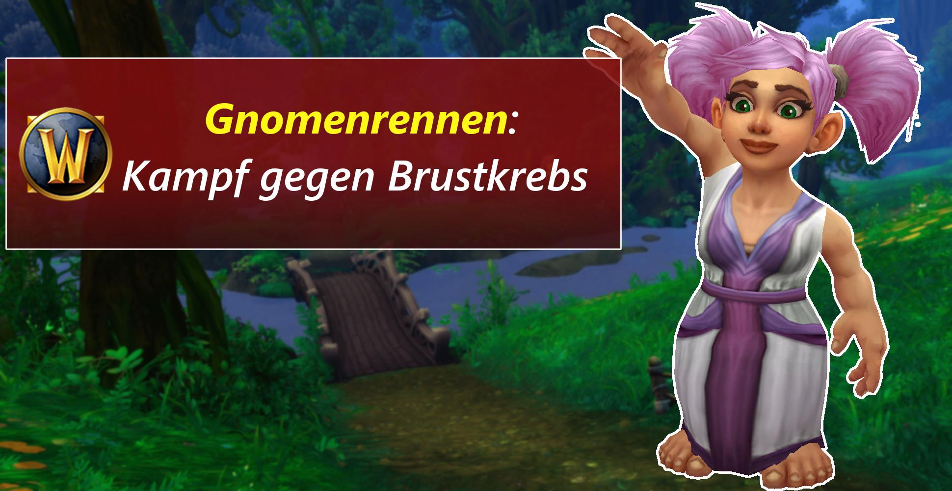 WoW: Rekord! 7000 pinke Gnome rannten gegen Brustkrebs