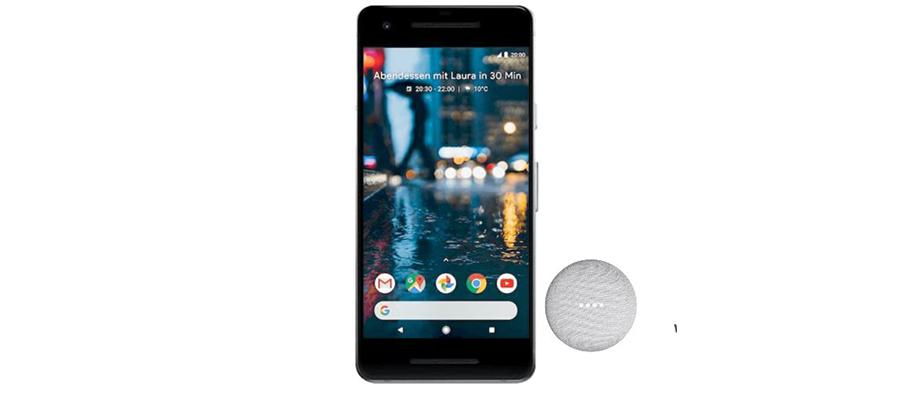 Google Pixel 2 mit Home Mini für 31,99 Euro pro Monat