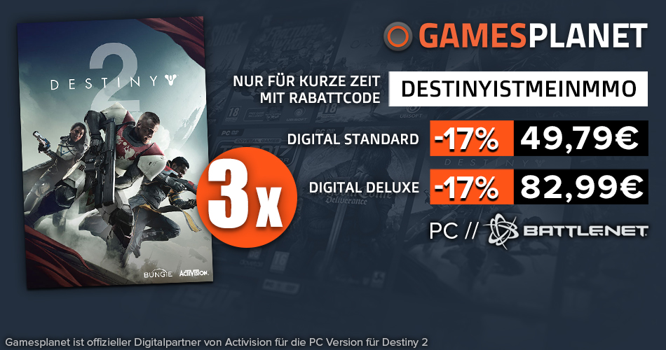 Gewinnt die PC-Edition von Destiny 2 mit Mein MMO & Gamesplanet