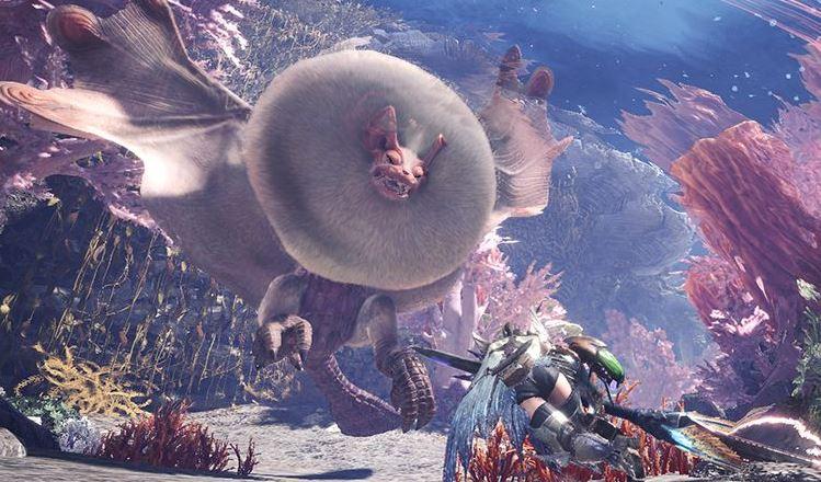 Monster Hunter World: Spieler wirft einen anderen auf Riesen-Fledermaus
