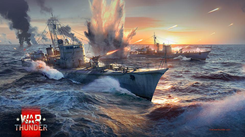 Die Schiffe in War Thunder sind klein und schnell statt groß und träge