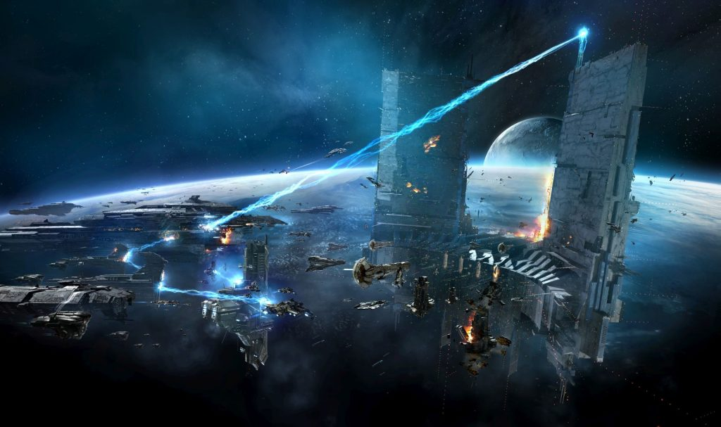 EVE Online Attacke Raumstation