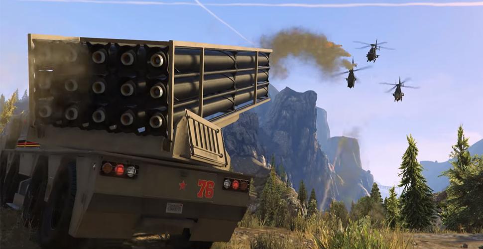 GTA 5-Spieler missbrauchen Raketenwerfer-Fahrzeug für irre Stunts