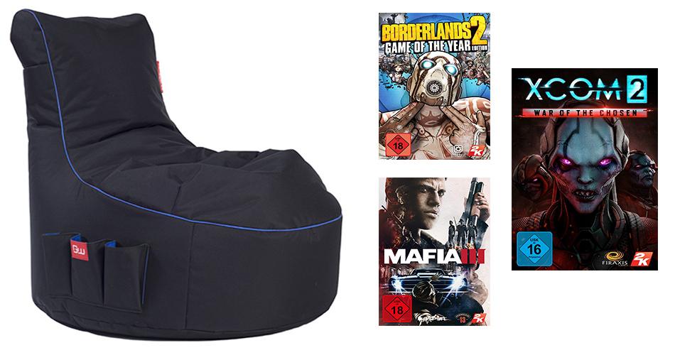 Amazon Osterangebote am 17. März – Heutige Deals mit 2K Games & Gaming Sitzsack