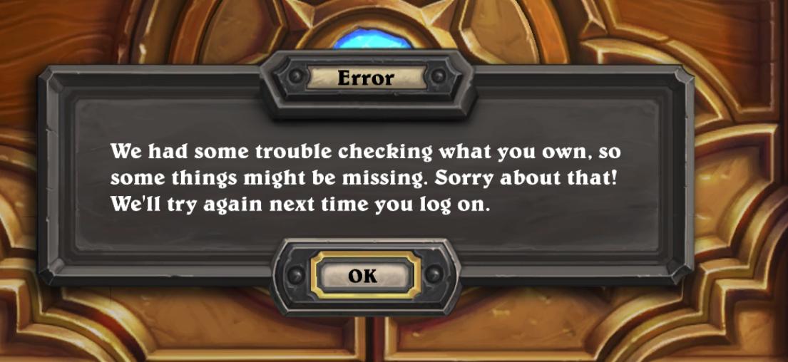 hearthstone error