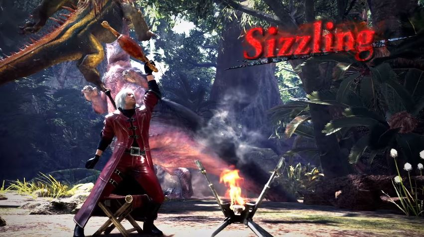 Dante aus Devil May Cry kommt mit Waffe zu Monster Hunter World