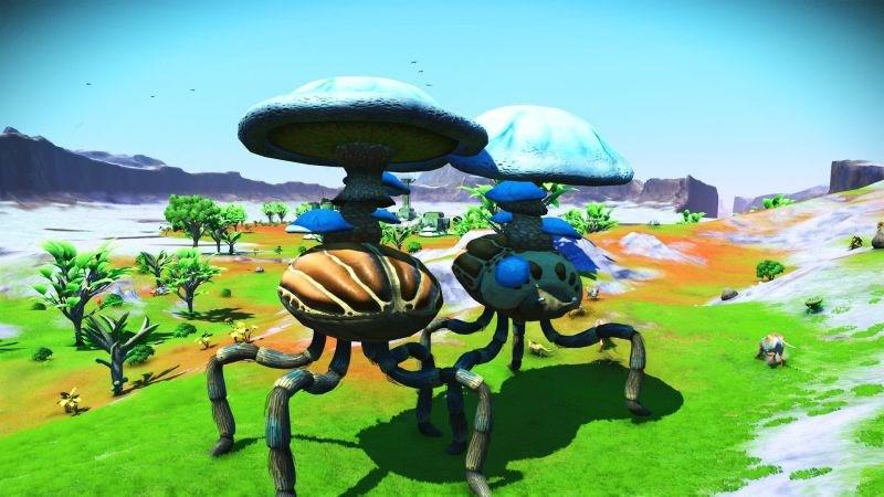 Riesenkäfer mit Pilz auf dem Rücken erfreut Spieler in No Man's Sky