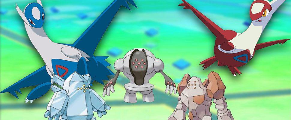 Pokémon GO: Guide für Latios und Latias, Regirock, Registeel und Regice