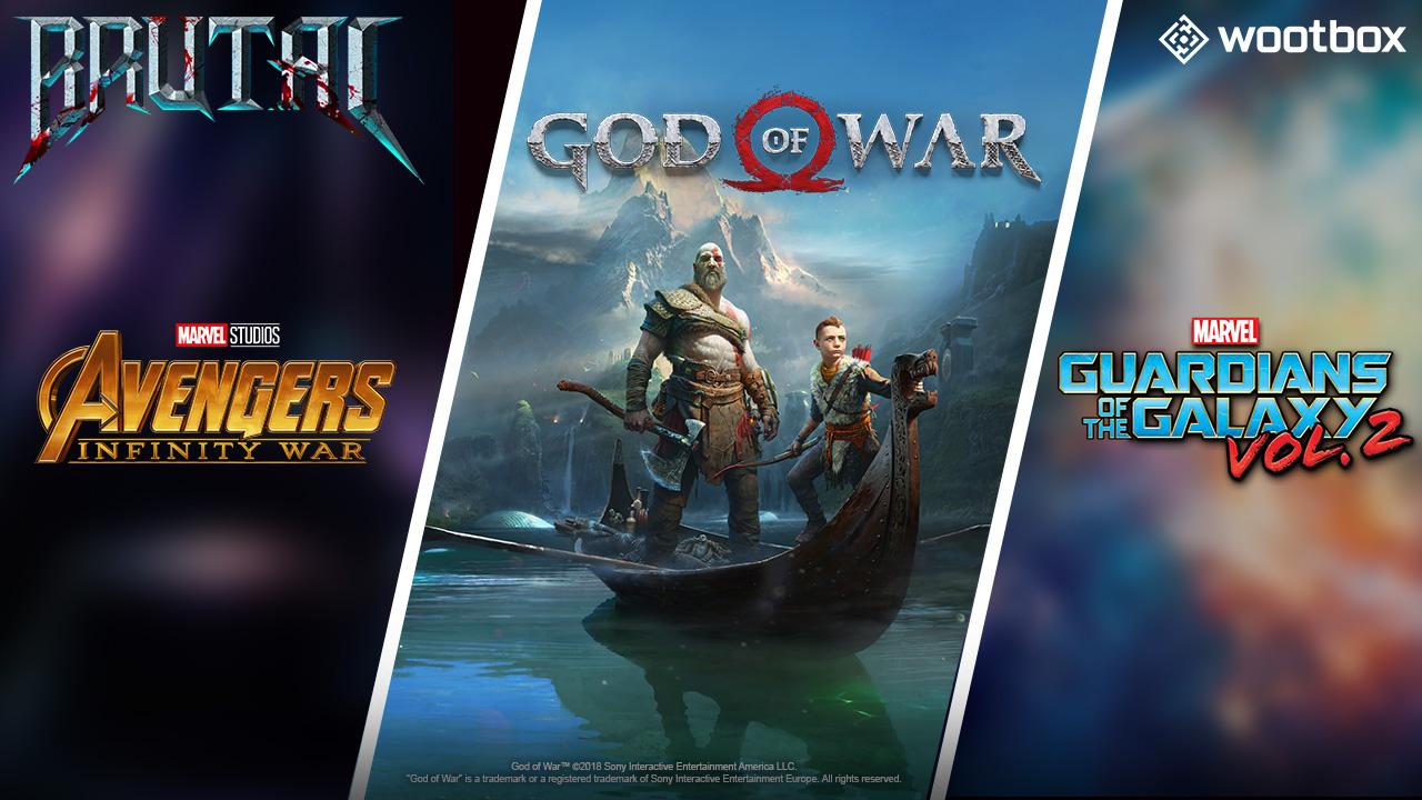 Wootbox im April 2018 wird brutal mit God of War und Avengers!