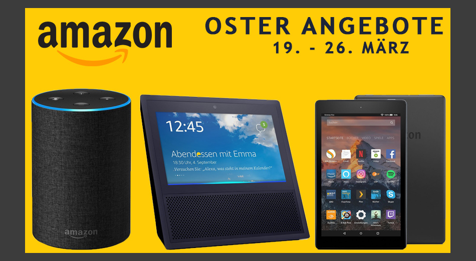 Amazon Kindle, Echo, Show, Dot – Amazon Geräte im Oster-Angebot