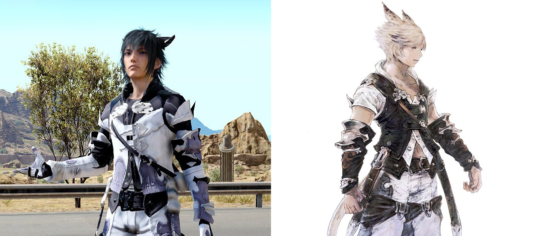 final fantasy xiv outfit in ffxv
