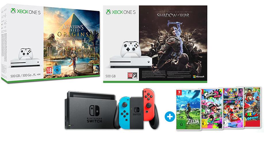 Konsolen- und XXL-Weekend-Deals mit PS4, Xbox One und Nintendo Switch – Angebote bei Saturn