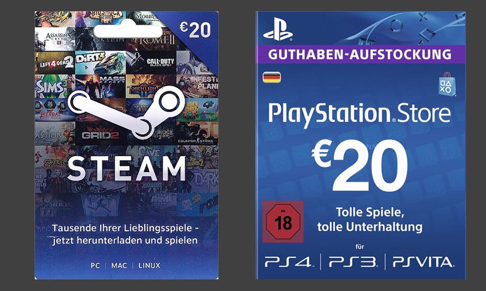 80 Euro PlayStation- oder Steam-Guthaben für nur 61 Euro bei Alternate