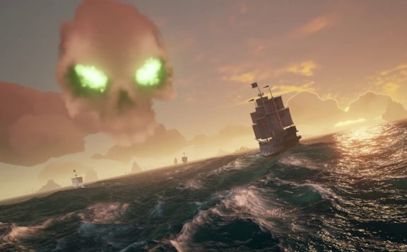 Sea of Thieves Totenkopf-Wolke