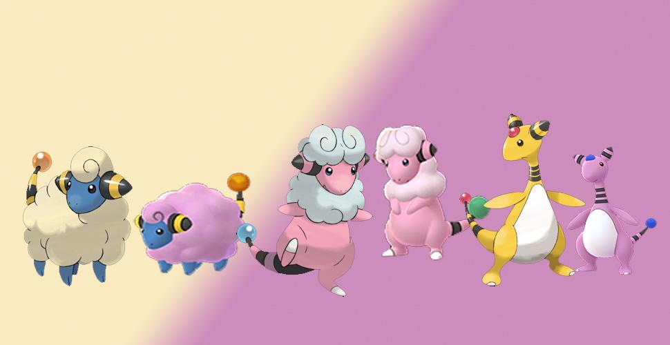 Pokémon GO Shiny Voltilamm Familie
