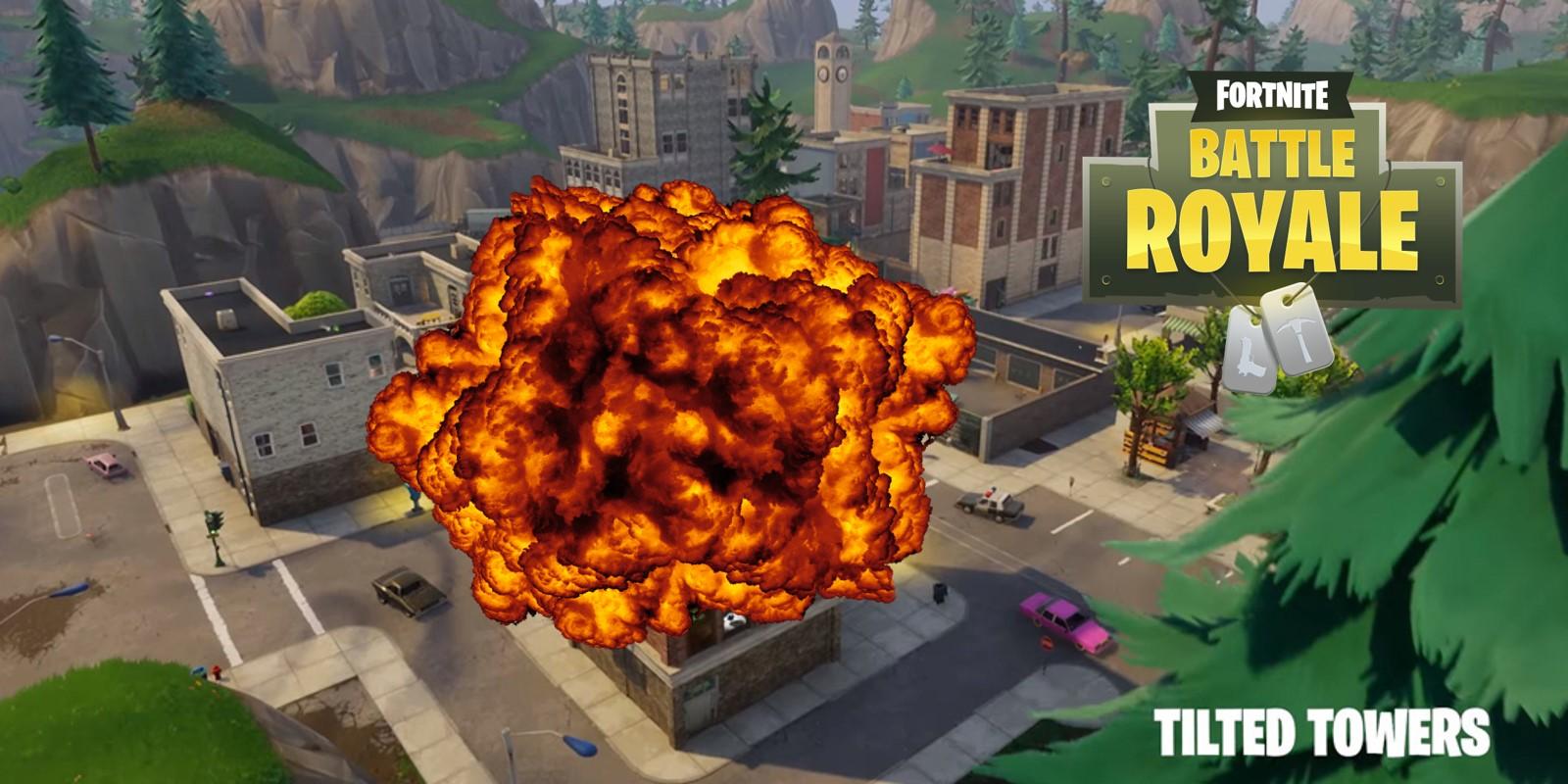 Brennende Objekte am Fortnite-Himmel – fallen heute die Tilted Towers?