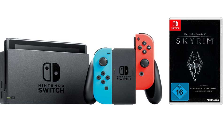 Nintendo Switch Bundle mit The Elder Scrolls 5 Skyrim zum Bestpreis