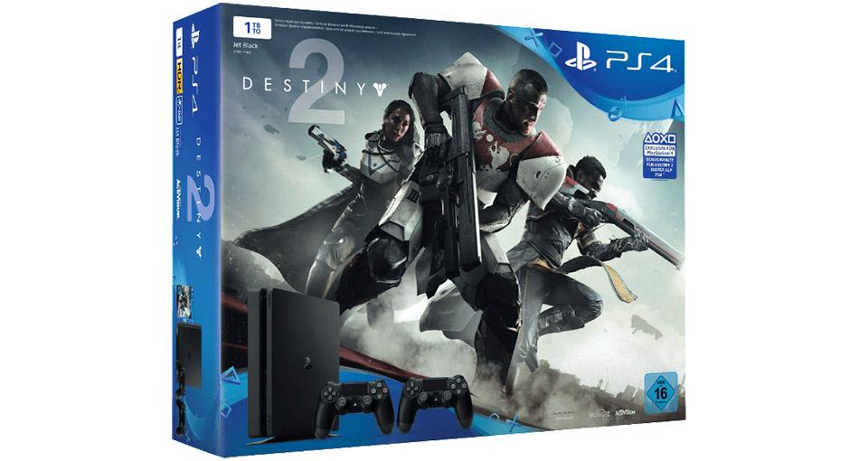 PS4 Slim 1 TB im Bundle mit Destiny 2 + 2. Controller zum Spitzenpreis