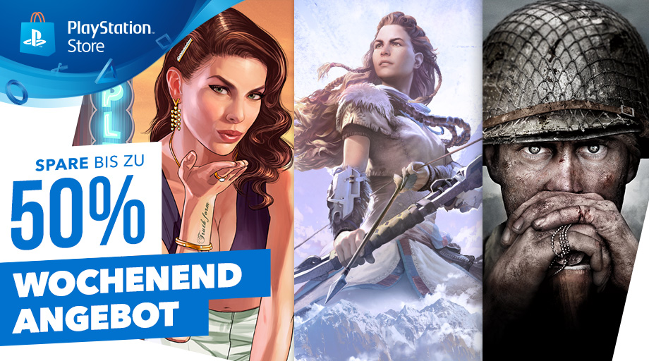 Top PS4-Titel bis zu 50% günstiger im Wochenend-Angebot des PS Store