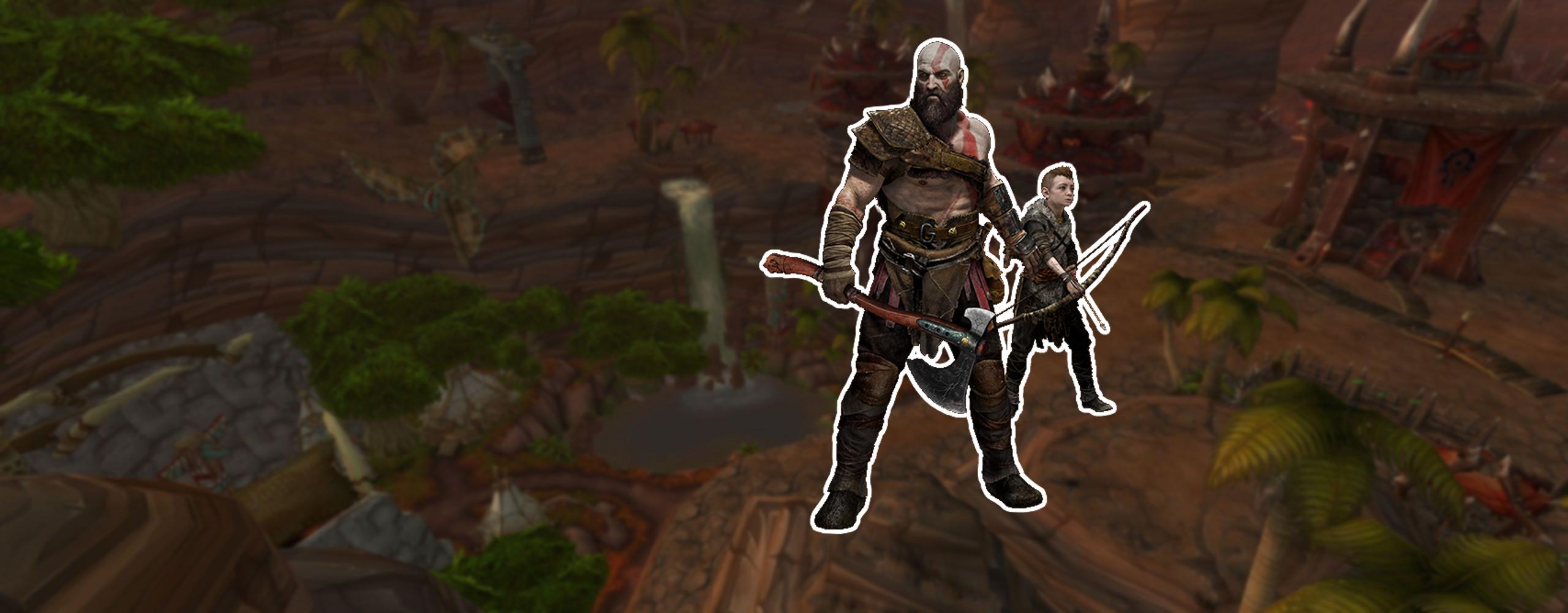 In WoW: BfA wandert Kratos aus God of War durch Orgrimmar