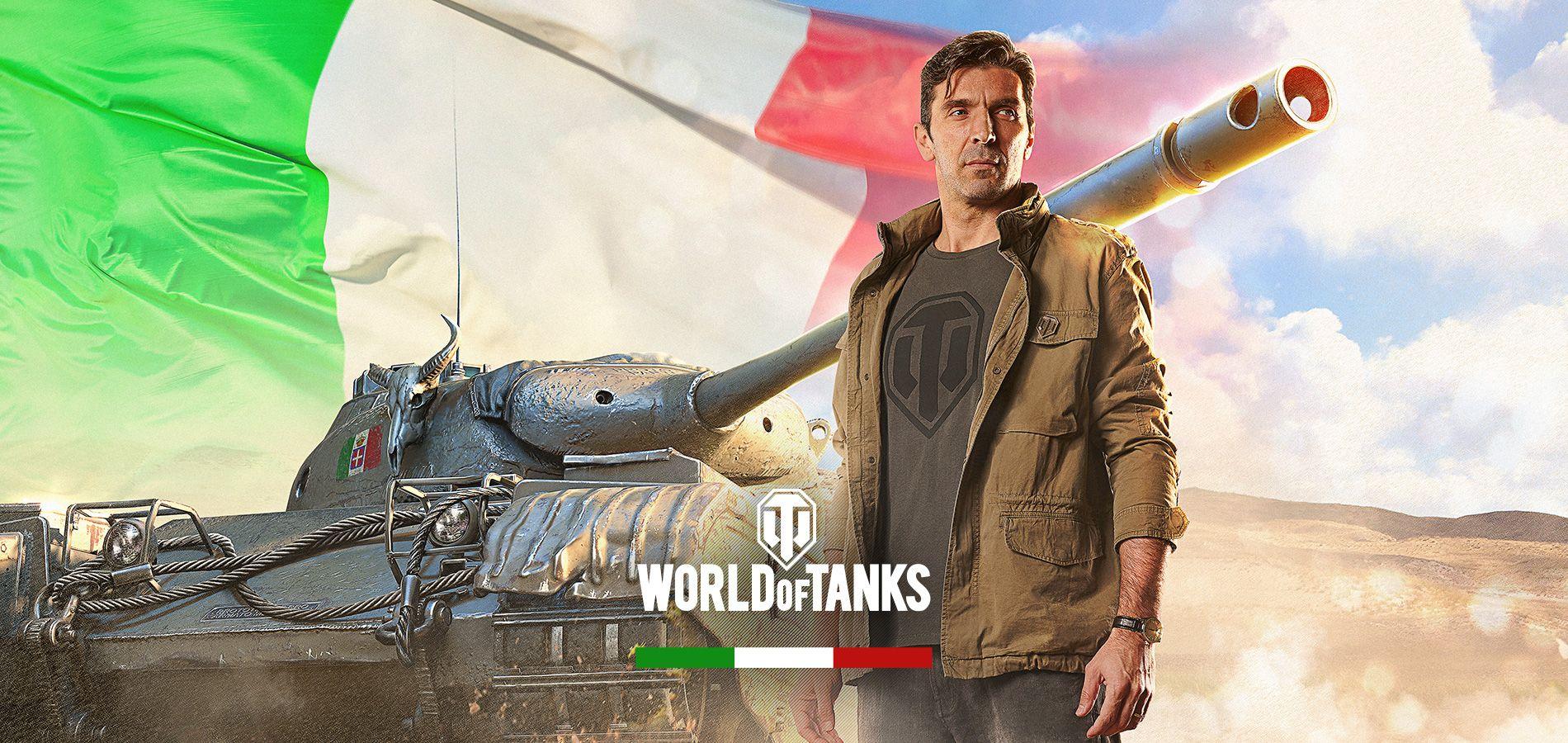 Legendärer Torwart Buffon fährt italienische Panzer in World of Tanks!