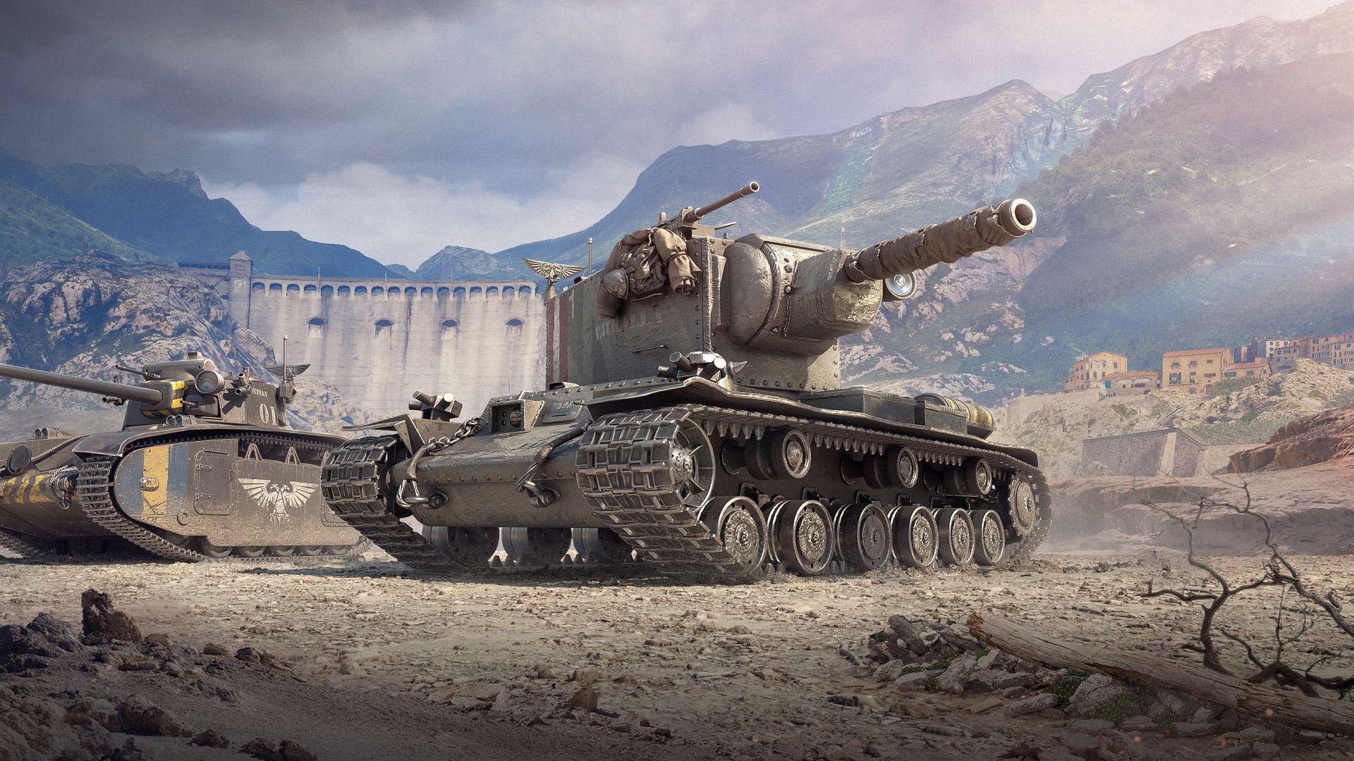 In World of Tanks gibt's nun Panzer im Look von Warhammer 40K