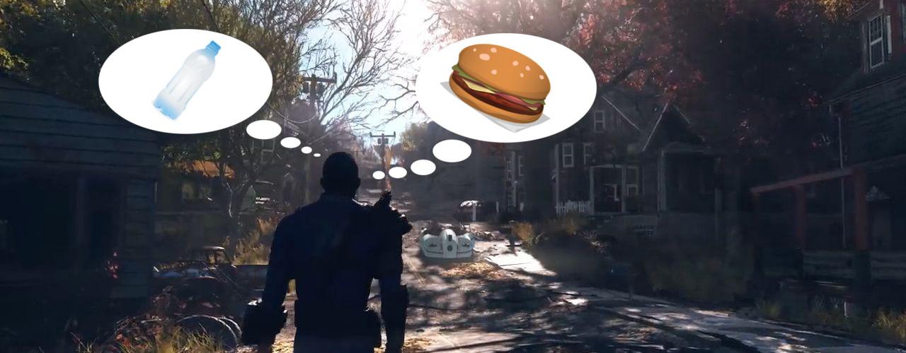Survival in Fallout 76: Ihr müsst essen und trinken, um zu überleben