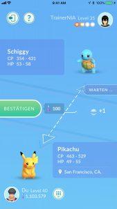 Pokémon GO Tausch 1