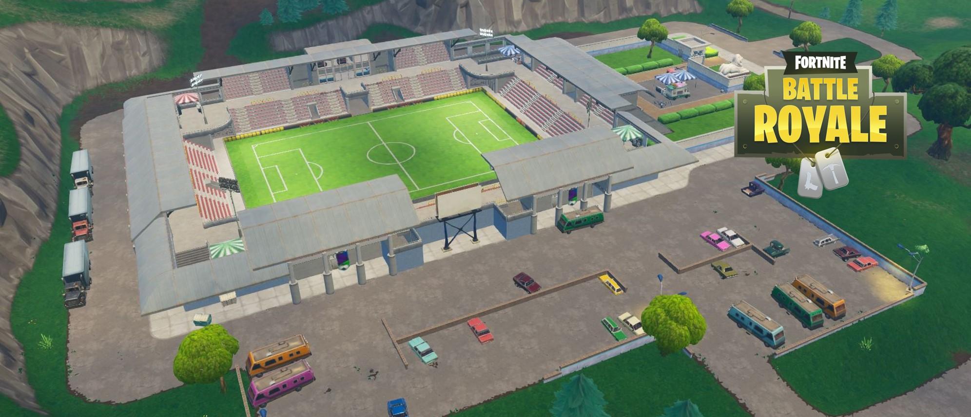 Fortnite: Karte zeigt alle Fußballfelder – Auf Fußball-Plätzen Tore schießen