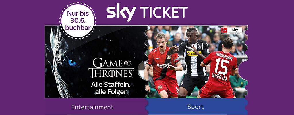 3 Monate Sky Entertainment Ticket + Supersport Ticket für einmalig 4,99€