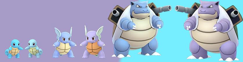 Pokémon GO Schiggy Familie Shiny