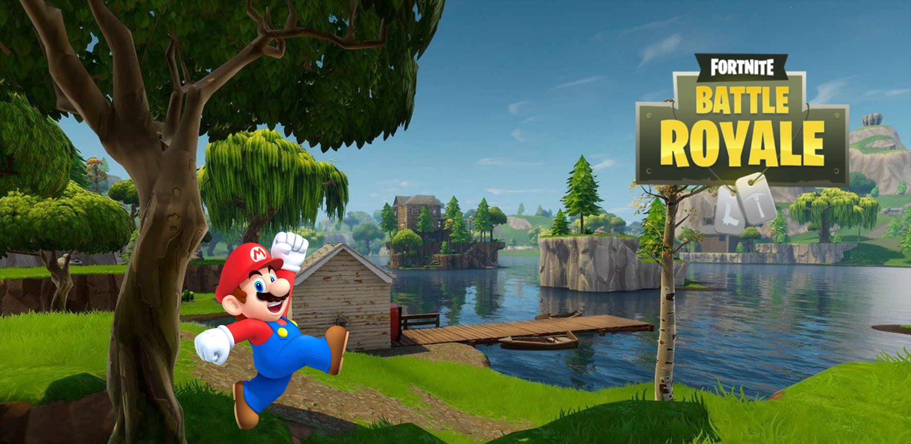 Irre, jemand hat Super Mario auf der Spielwiese in Fortnite nachgebaut