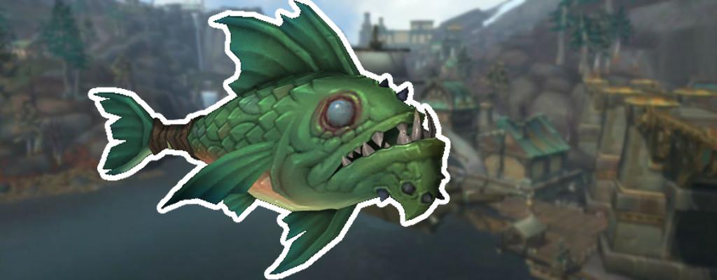 In WoW: BfA schlagt Ihr mit einem toten Fisch zu und er wabbelt sogar