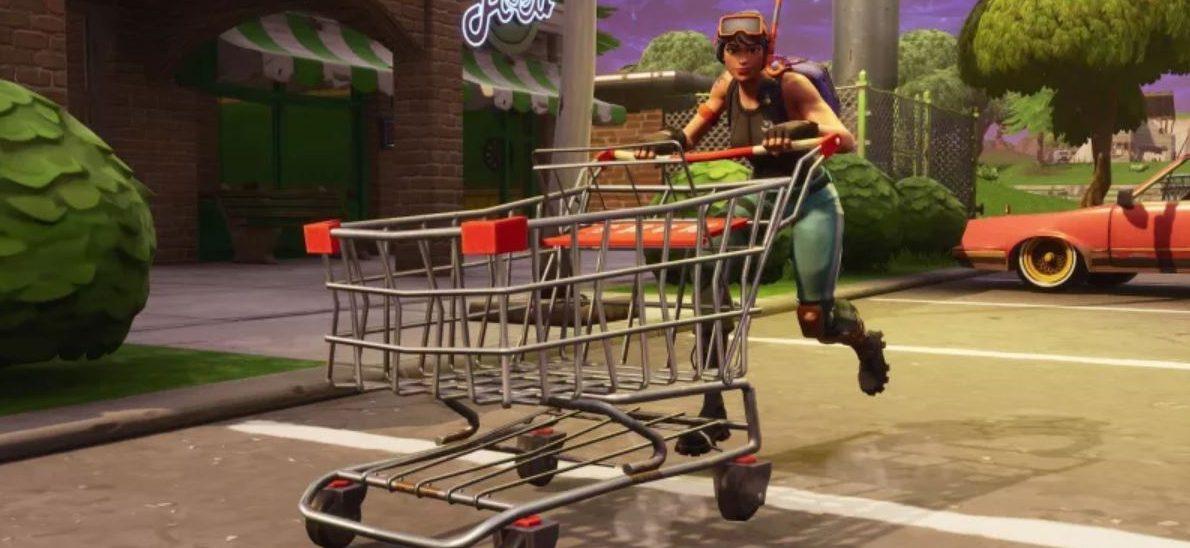 Fortnite: Feuerringe unmöglich, denn Golfkarren und Einkaufswagen sind weg